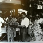 image of Ali presented with a kente