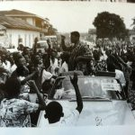 image of Ali with fans in the streets of Accra